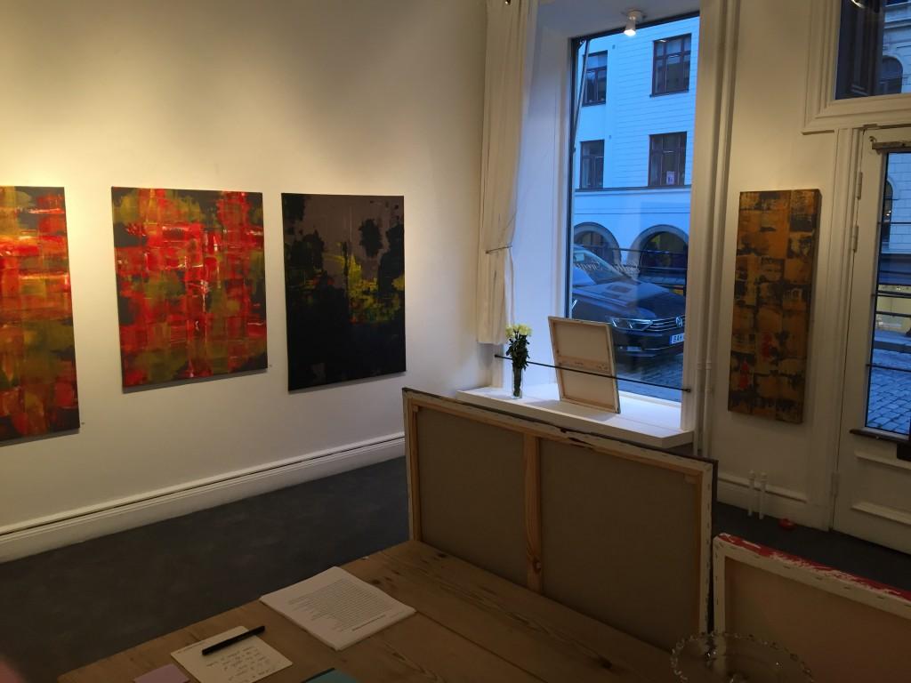 En dag i Galleriet under den pågående utställningen